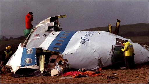 Wreckage of Pan Am flight 103