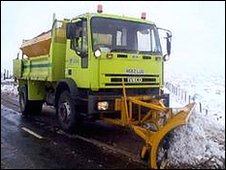 Gritter in West Yorkshire