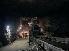 Salt mine in Carrickfergus