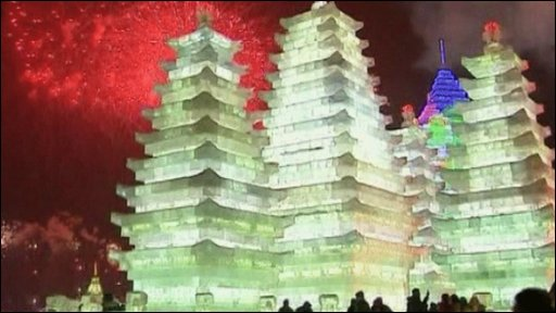 Ice sculptures in China