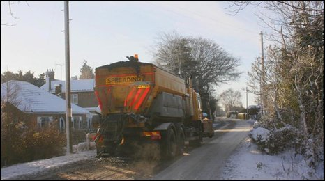 Gritter lorry