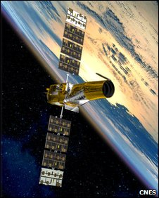 Artist's impression of Corot satellite
