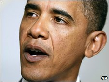US President Barack Obama on 5 January 2010