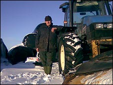 Malcolm Robinson and his snow plough