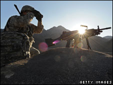 A US soldier in Afghanistan