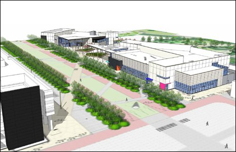 Artist's impression of the training academy in St Athan