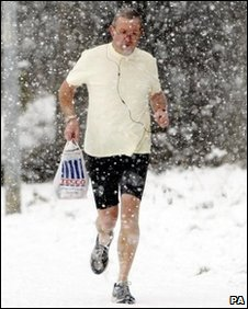 A jogger in Springfield, near Chelmsford