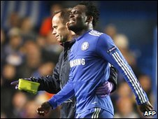Michael Essien in action for Chelsea