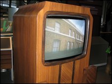 television set from 1950s