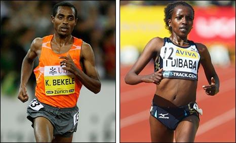 Kenenisa Bekele and Tirunesh Dibaba