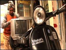 Sartaj Ali with his scooter