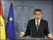 Spanish PM Jose Luis Rodriguez Zapatero. File photo