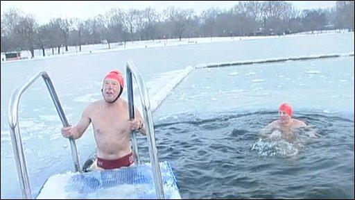Swimmer at the Serpertine