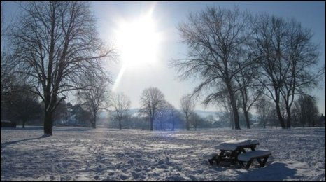 Snow in Pershore by Rebecca Harrison