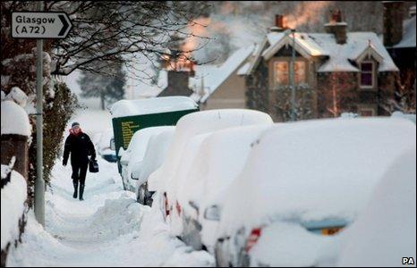 Snow in Peebles