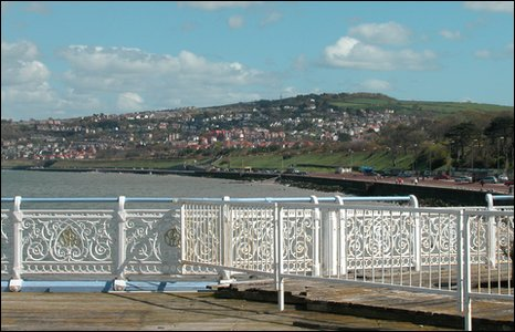 View from the pier towards Old Colwyn and Penmaenhead
