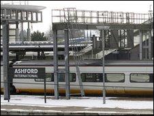 Eurostar train at Ashford International