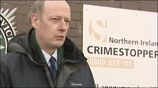 Detective Chief Superintendent Derek Williamson described the car bomb attack in Randalstown, County Antrim, as 'a cowardly terrorist attack'