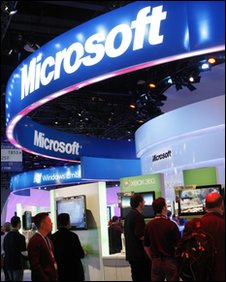Microsoft's CES stand