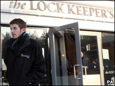 Kirk McCambley outside the Lock Keeper's Inn