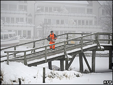 Snow in Steinhude, near Hanover, 8 Jan 10