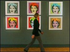 Display of Kate Moss by Banksy