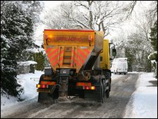 Gritting truck in Wokingham