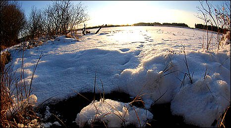 image shows a frozen mass of snow and ice by Stuart Ladd