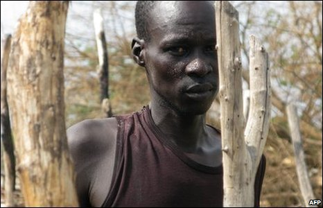 A Sudanese man in Abyei, on the border between North and South Sudan