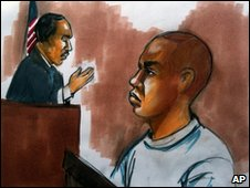 US courtroom sketch of Umar Farouk Abdulmutallab