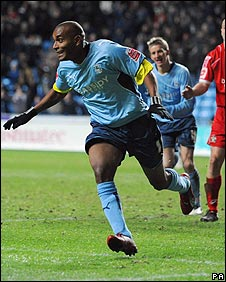 Coventry goalscorer Clinton Morrison