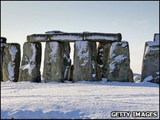 Snow at Stonehenge