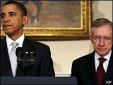 Barack Obama and Harry Reid (file)