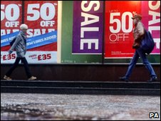 Shoppers earlier this month in Glasgow