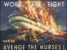 Australian government propaganda poster following sinking of the Centaur (image courtesy of Australian War Memorial, copyright expired)