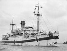 Centaur hospital ship in 1943 (image courtesy of Australian War Memorial, copyright expired)