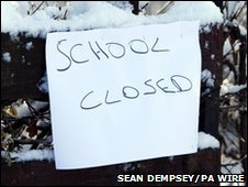 """School closed"" notice"