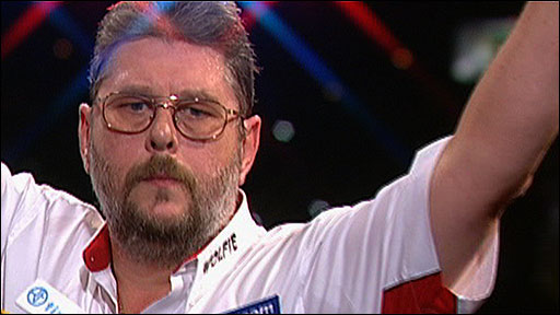 Martin 'Wolfie' Adams celebrates winning the 2010 BDO World Darts Championship