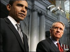 Barack Obama and Harry Reid (2006 file picture)
