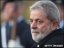 File pic: Brazilian President Luiz Inacio Lula da Silva reviews a guard of honour
