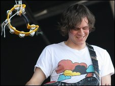 Front man Rob at Evolution Festival in Newcastle in 2009