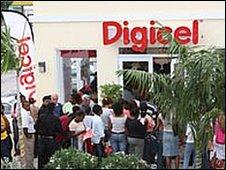 Digicel store in Anguilla