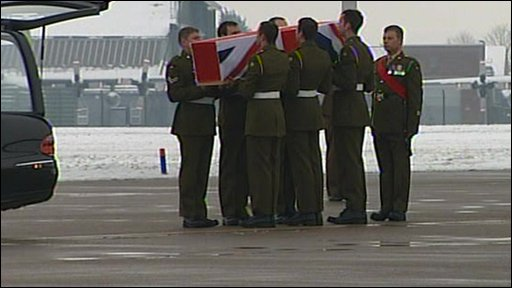 Coffin is carried