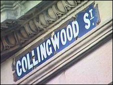 Collingwood Street sign in Newcastle