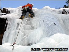 Ice climbing in Kishorn
