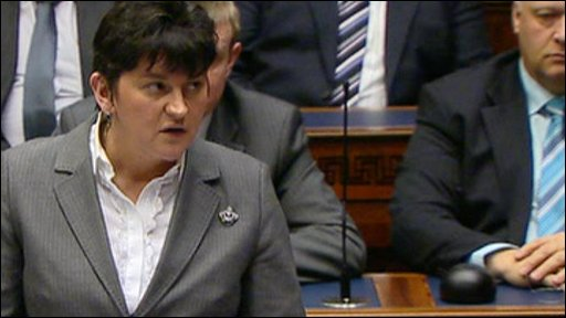 Arlene Foster addressing the Northern Irish Assembly