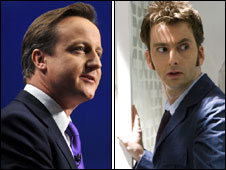 David Cameron and David Tennant composite