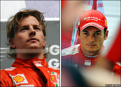Kimi Raikkonen and Giancarlo Fisichella