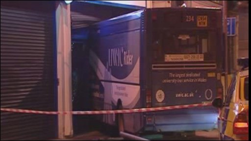 Bus crashed into Pure Rugby shop