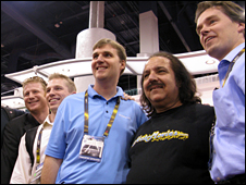 Ron Jeremy in Black t-shirt